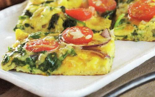Omletas su špinatais ir picarela