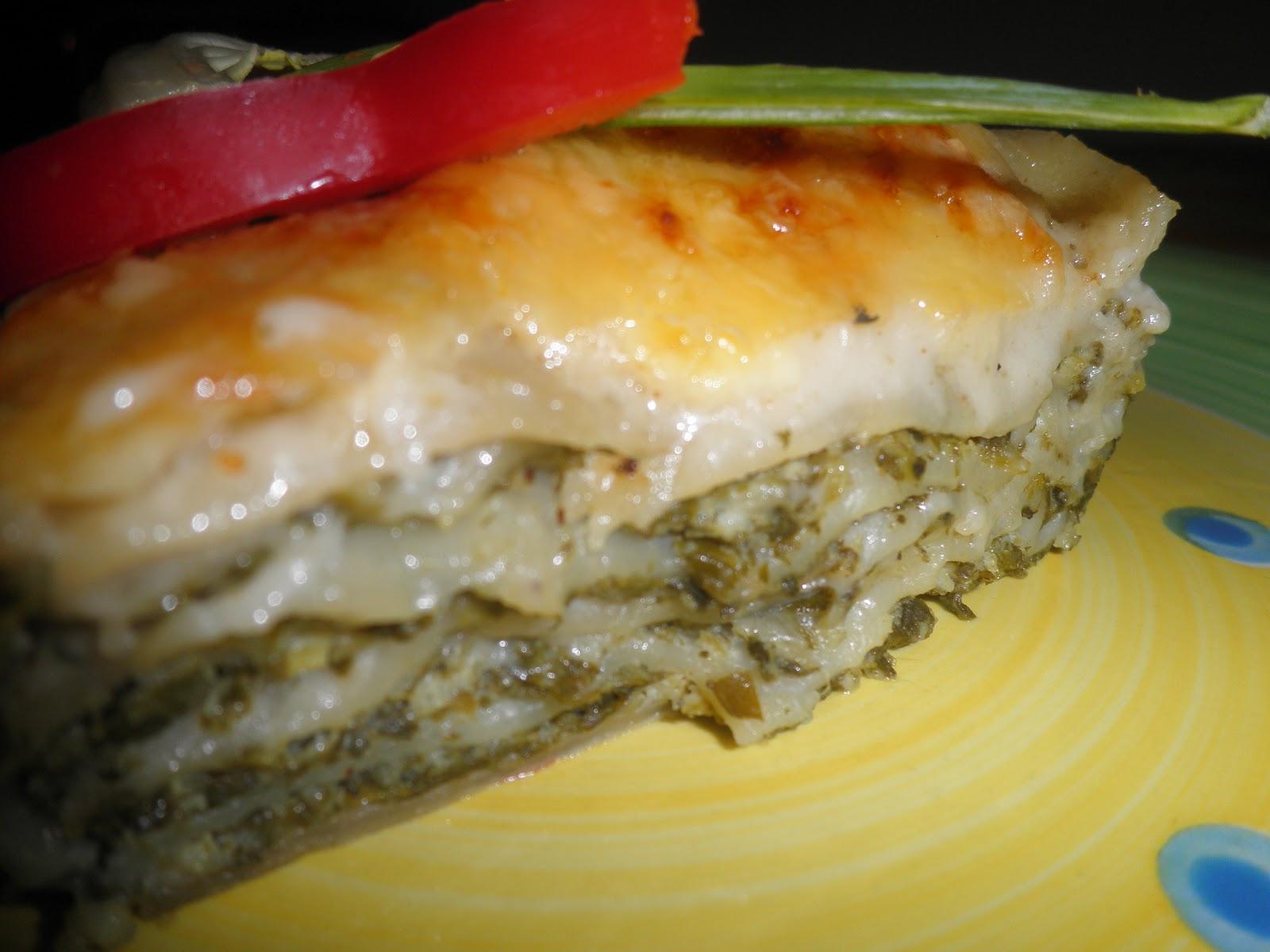 Makaronų patiekalas: Lazanija su bešamelio padažu