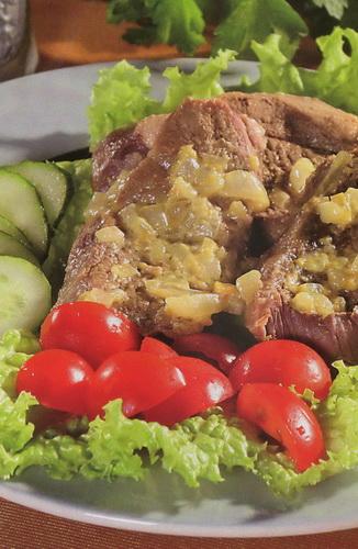 Receptas: Virta aviena su svogūnų padažu