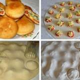 pyrageliai su brinzos ir pomidoru idaru