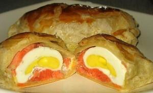 Kiaušiniai tešloje