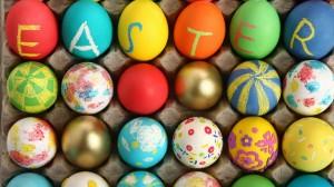 Kreatyvas - velykų kiaušiniai su raidėmis