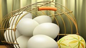 Darbalaukio paveiksliukas - Balti kiaušiniai