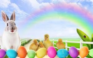 Velykos, zukis, ančiukai, kiaušiniai