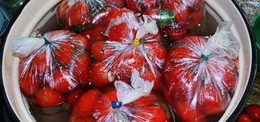 pomidorai rauginti krepseliuose