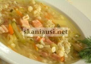 Raugintų agurkų sriuba