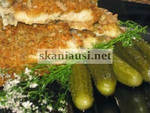 Žuvies kepsneliai su traške plutele