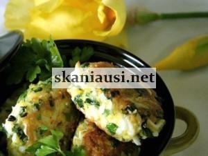 Kiaušinių kotletai pusryčiams