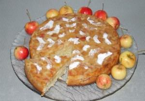 Varškės pyragas su obuoliais