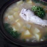 konservuotu kruopu ir darzoviu sriuba su vistiena1