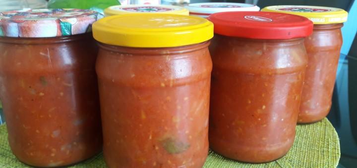 pomidoru morku svogunu ir baziliku padazas sriuboms ir ne tik