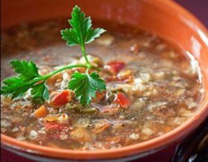 Klasikinė grikių kruopų sriuba