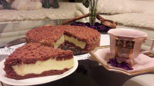 Pyragas su varškės ir kondensuoto pieno įdaru