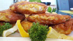 Žuvų kepsneliai su sūrio plutele
