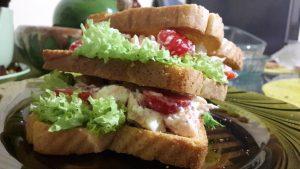 Sluoksniuoti sumuštiniai su mocarela ir upėtakiu
