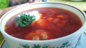 Keptų burokėlių sriuba