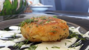 Bulvių košės ir sūrio kotletukai
