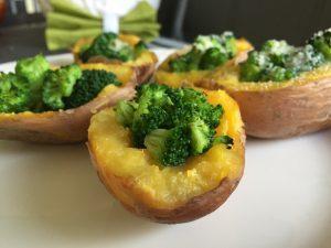 Bulvės įdarytos brokoliais