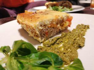 Maltos kalakutienos, daržovių ir sūrio kepsnys